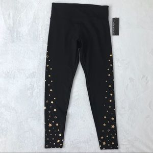 Jessica Simpson Black HighRise Work Out Leggins M